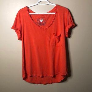Tla orange boyfriend shirt